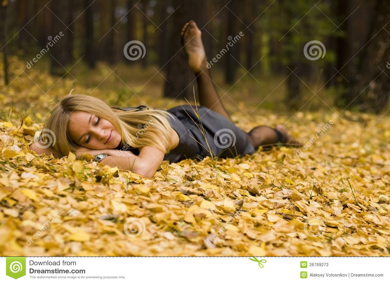 Kvinnlig på leaves