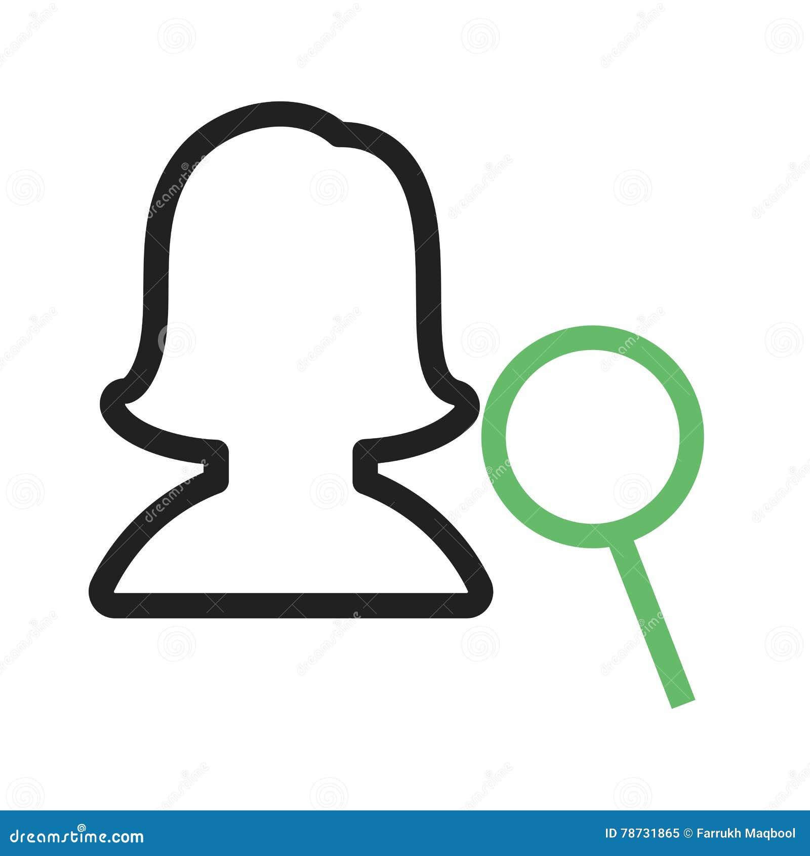 Kvinnlig profil för fynd