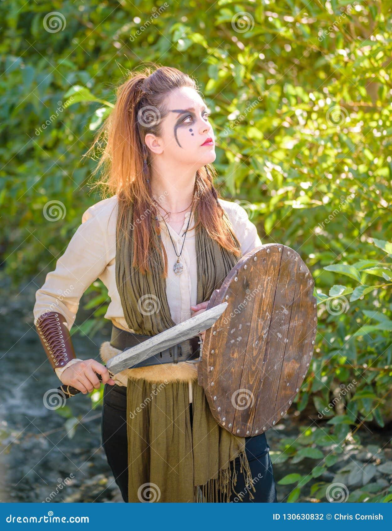 Kvinnlig Viking Character