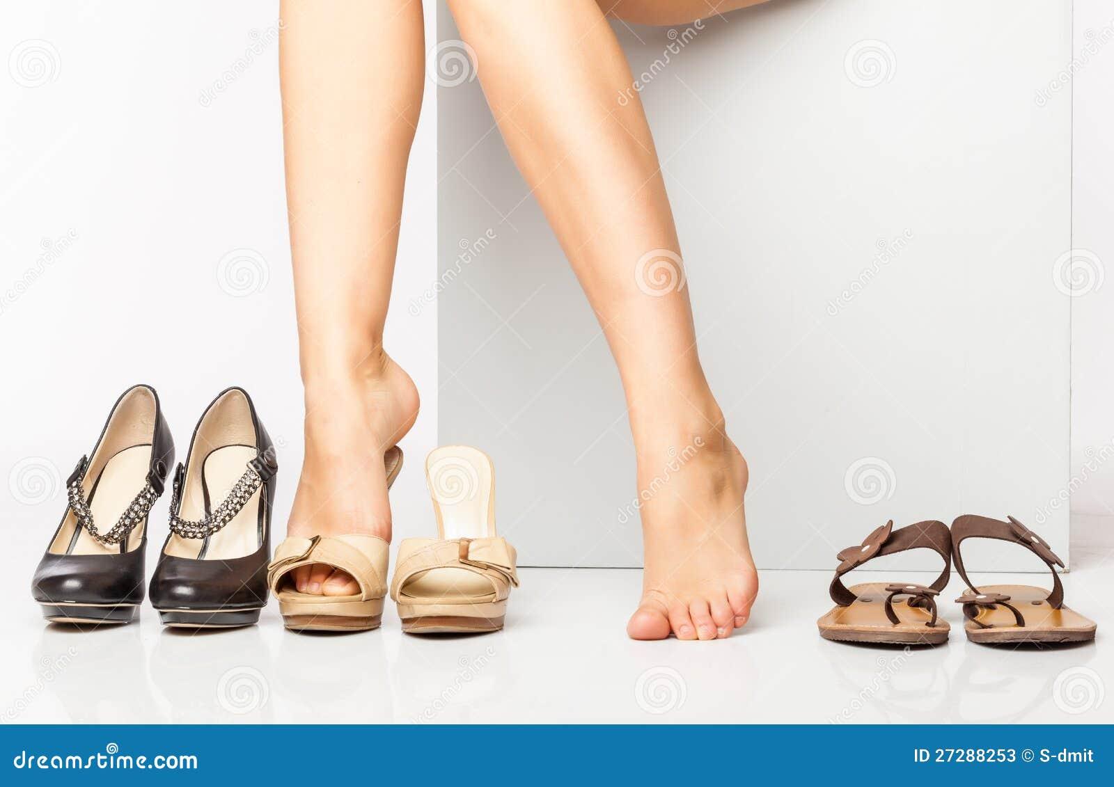 Kvinnligben i modeskor