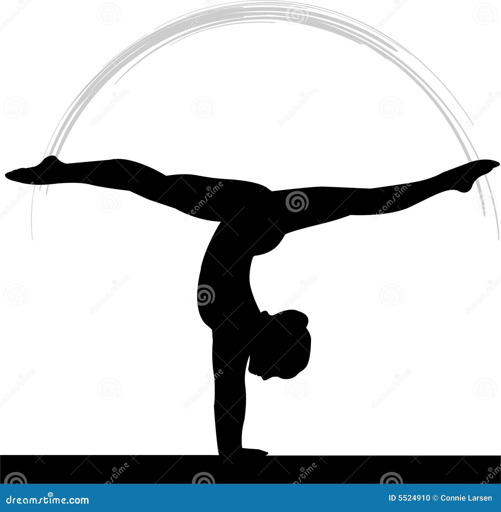 Kvinnor för balansbomgymnastik s