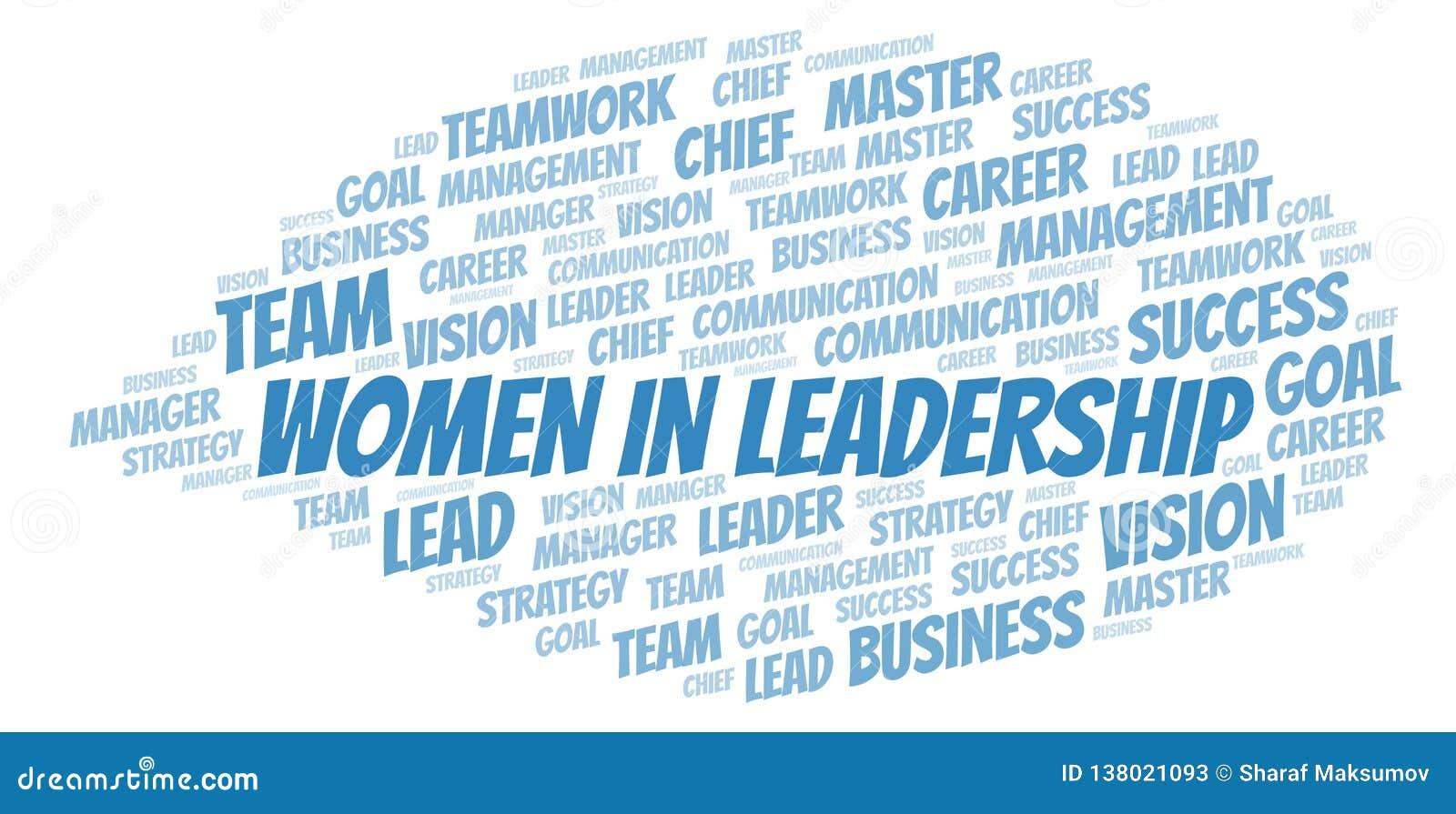 Kvinnor i ledarskapordmoln
