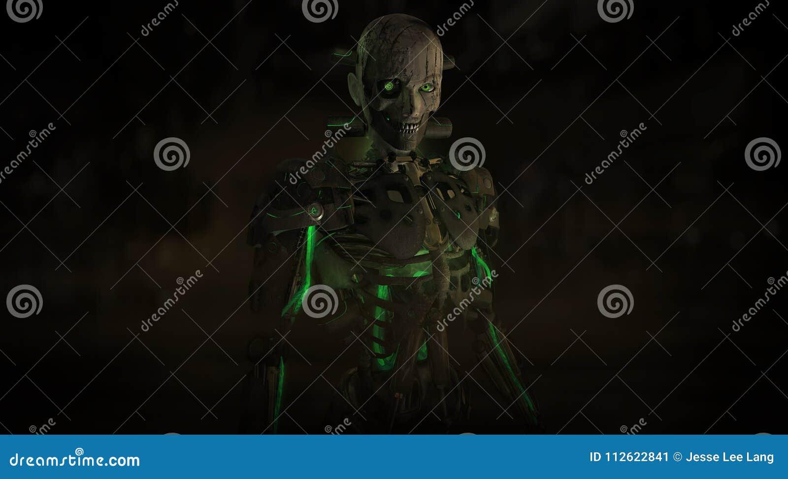 Kwaad cyborgkarakter