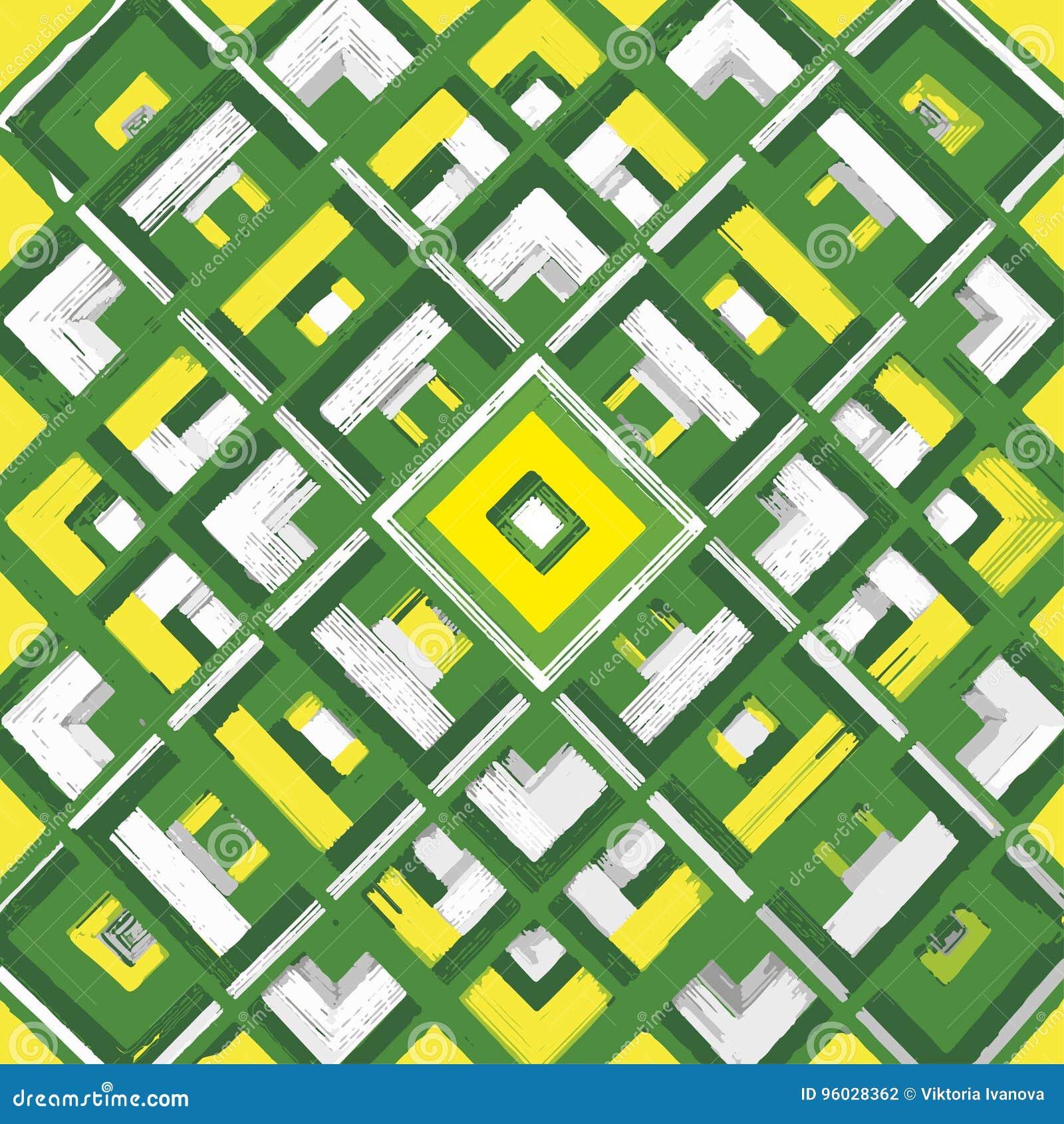 Kwadrat, mandala, ręka rysujący wektoru wzór n