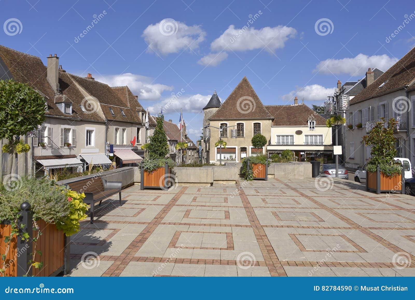 Kwadrat przy Sancerre w Francja