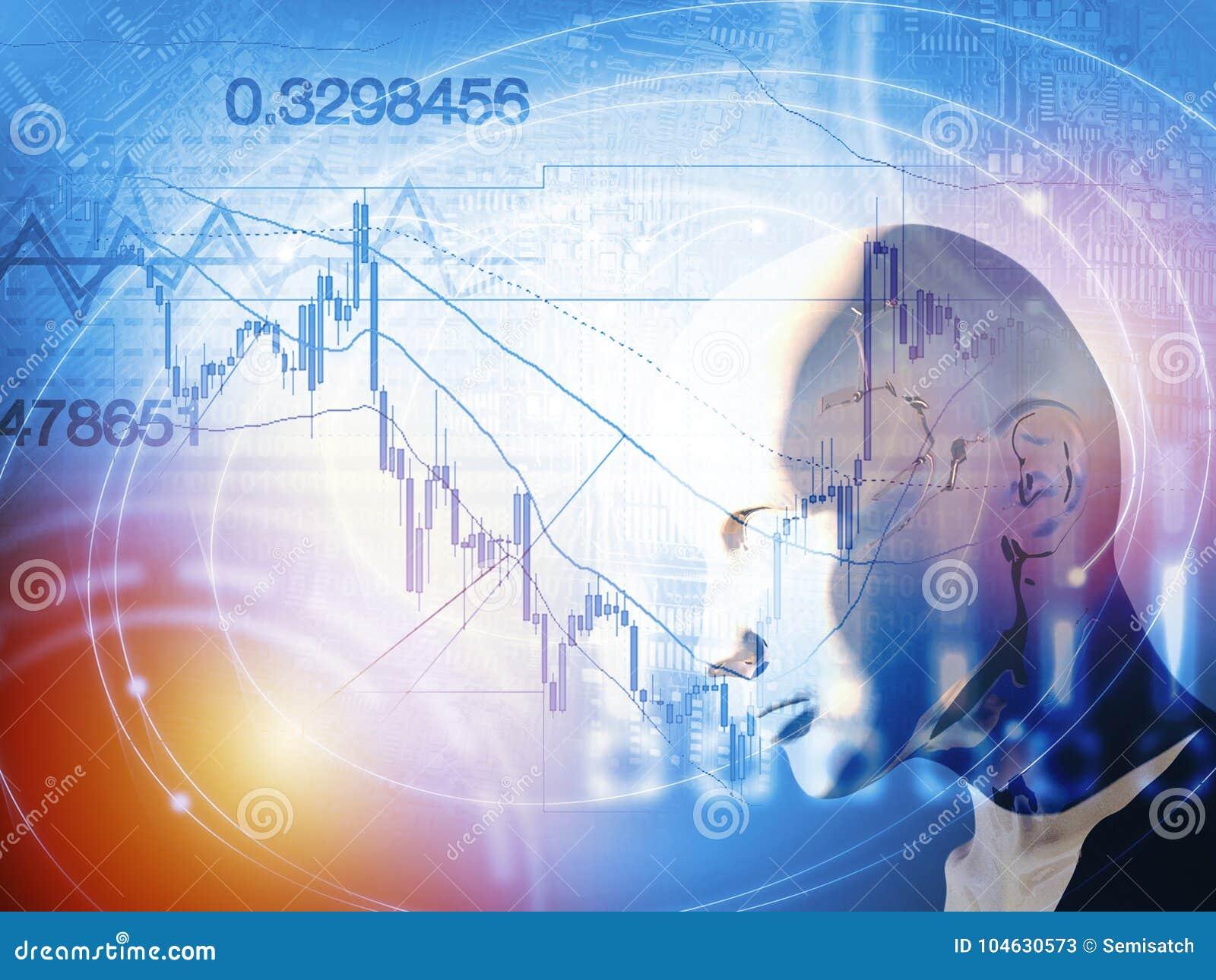 Download Kwantitatief Voorraad En Forex Handelconcept Met Kunstmatige Intelligentie Stock Illustratie - Illustratie bestaande uit pond, financieel: 104630573
