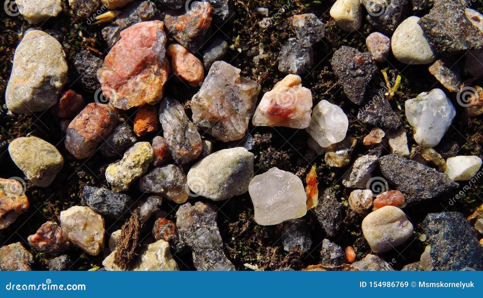 Kwarts en verpletterde steen