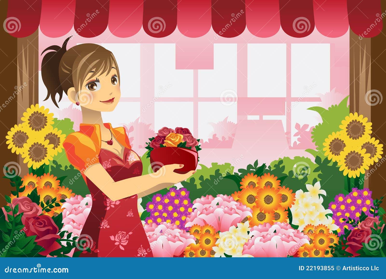 Kwiaciarni dziewczyna