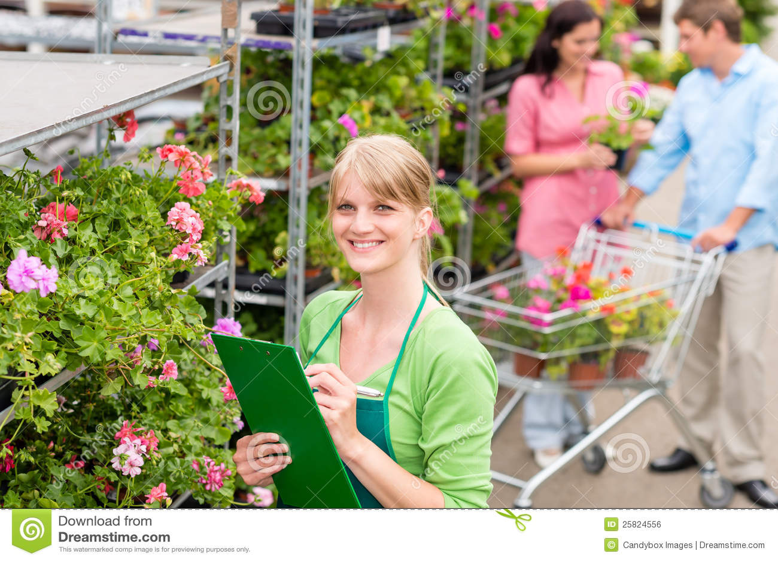 Kwiaciarnia przy ogrodowego centre handel detaliczny inwentarzem