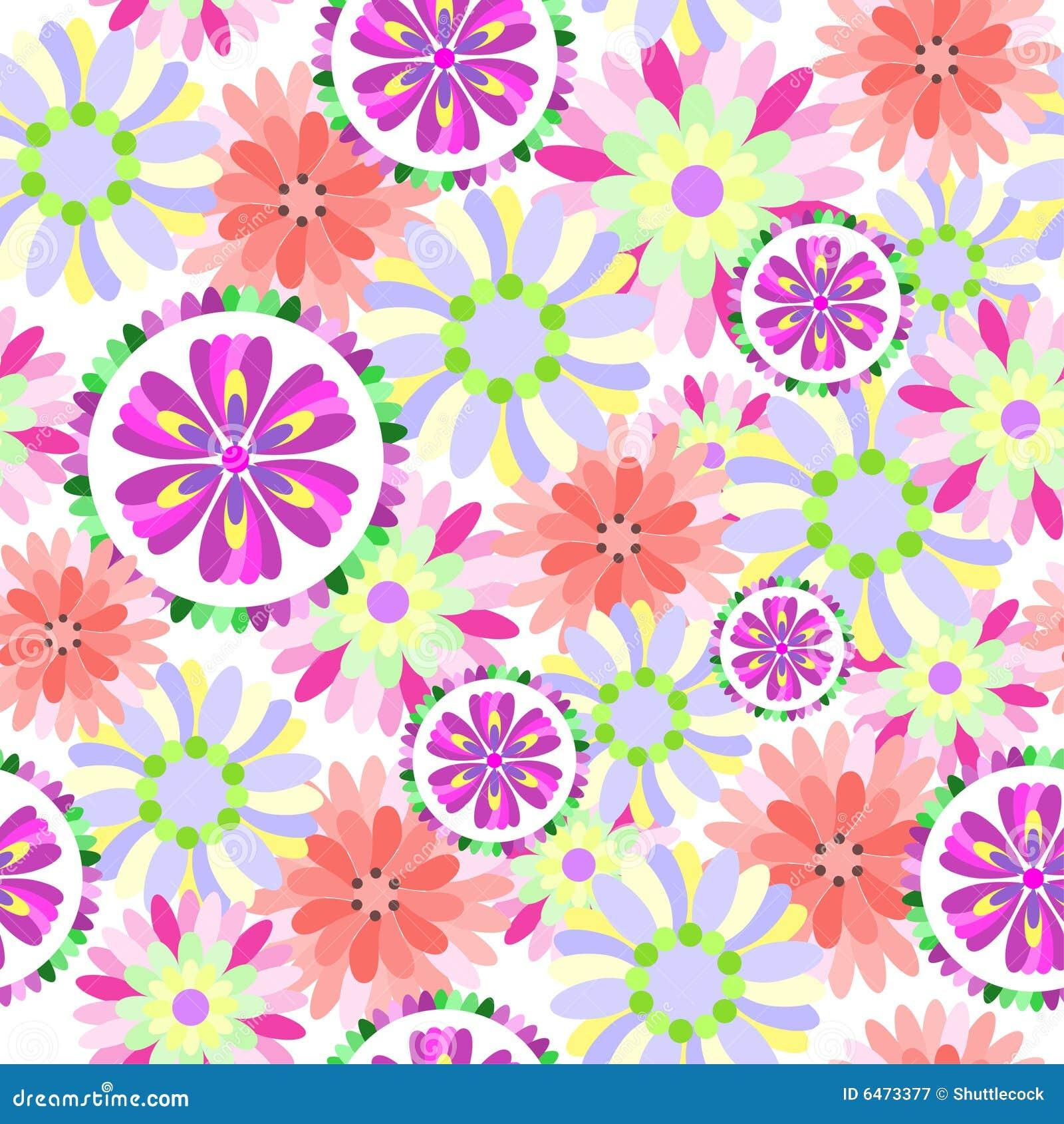Kwiat kwiecisty wzór bezszwowy
