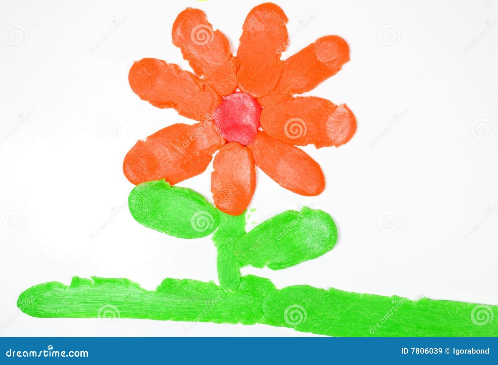 Kwiat rysunkowa plastelina