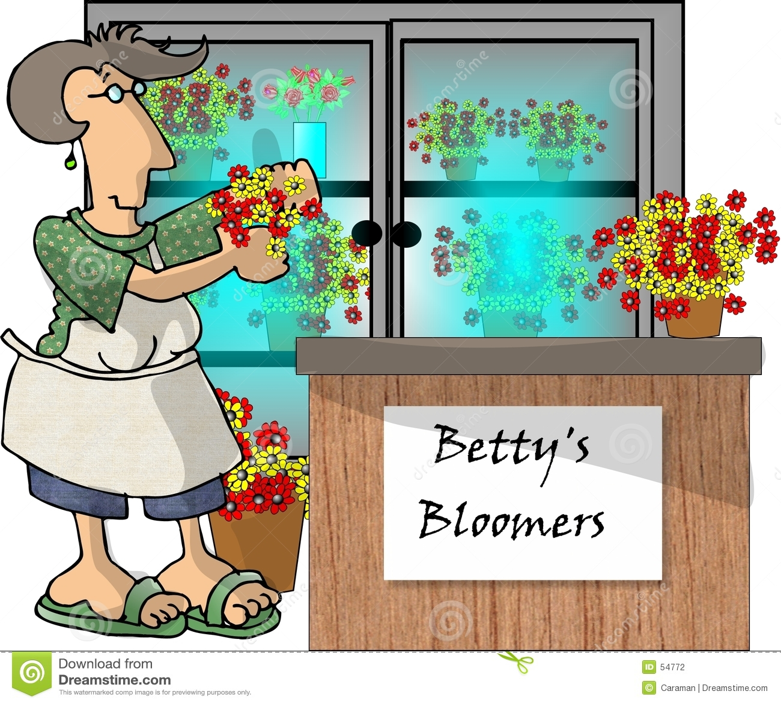 Kwiat sklepu kobieta