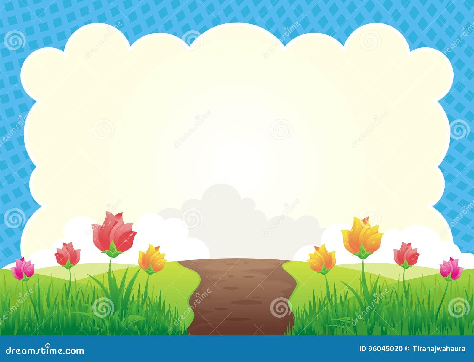 Kwiatu i trawy tło