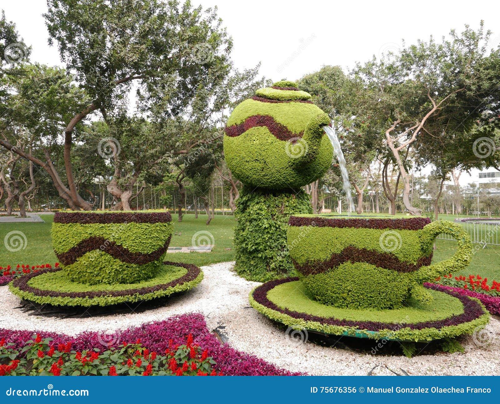 Kwiatu przygotowania w Lima rezerwy parku, Peru