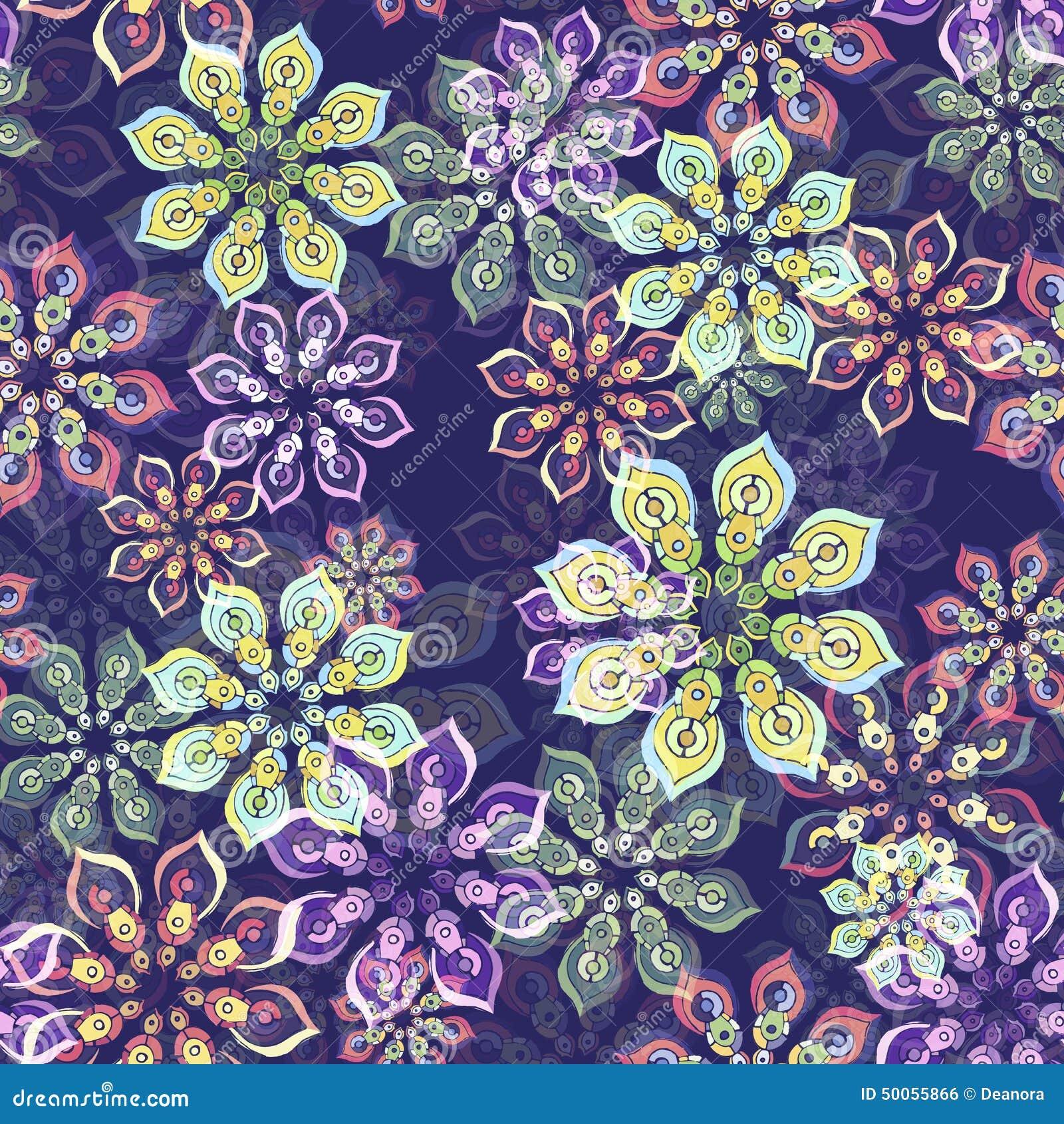 Kwiatu wzór na purpurach