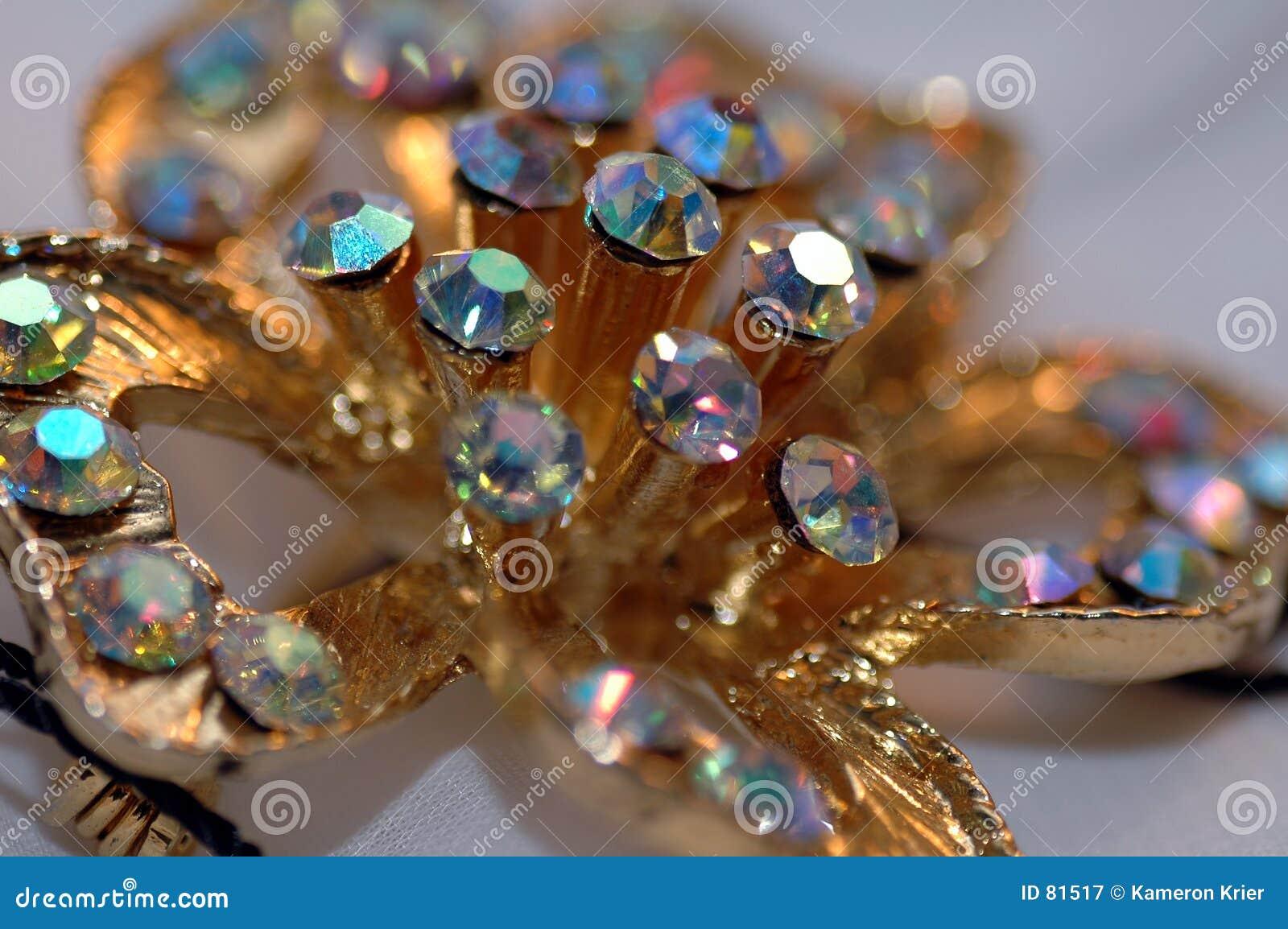 Kwiaty 2 diamentowy szpilki
