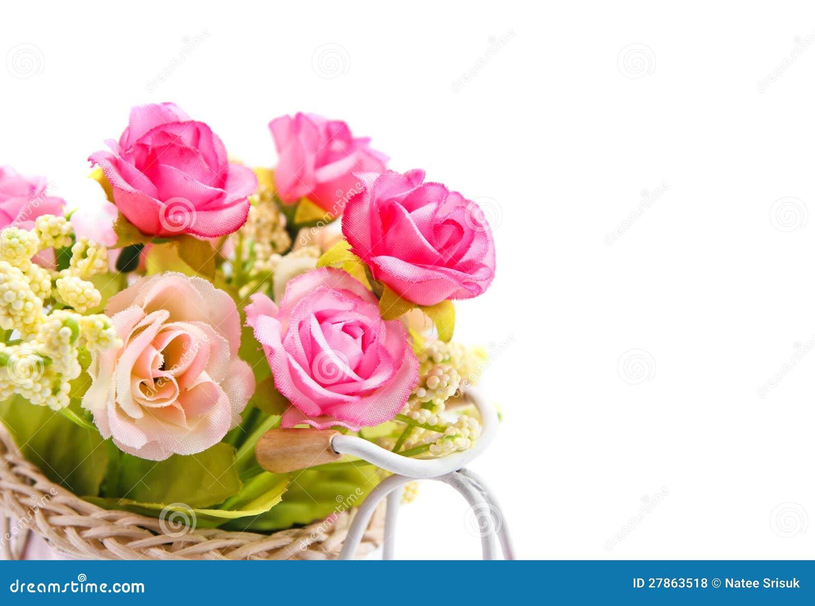 Kwiaty na biały tle