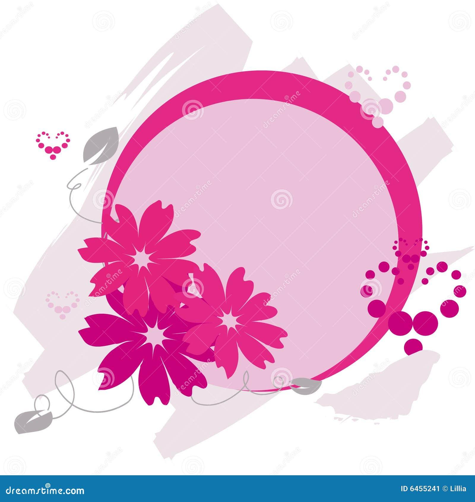 Kwiaty obramiają serca