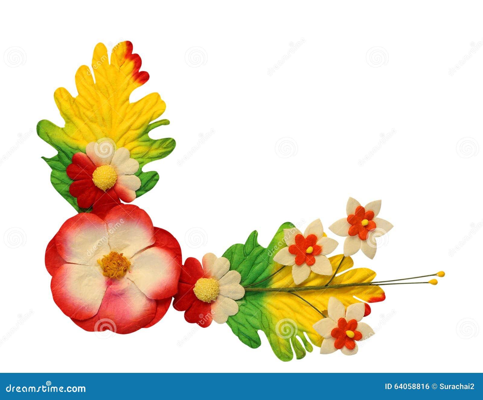 Kwiaty robić kolorowy papier