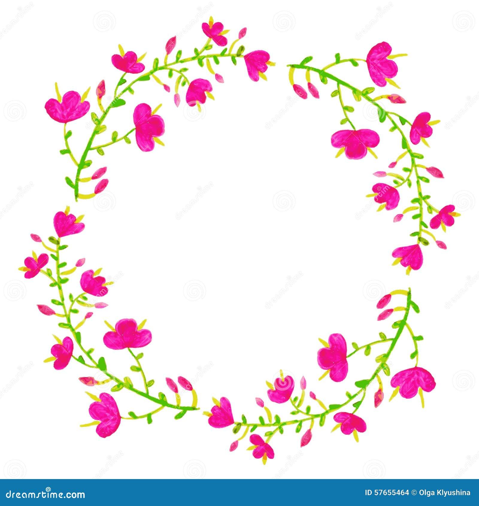 Kwiaty ustawiający wektor Kolorowa kwiecista kolekcja z liśćmi i f
