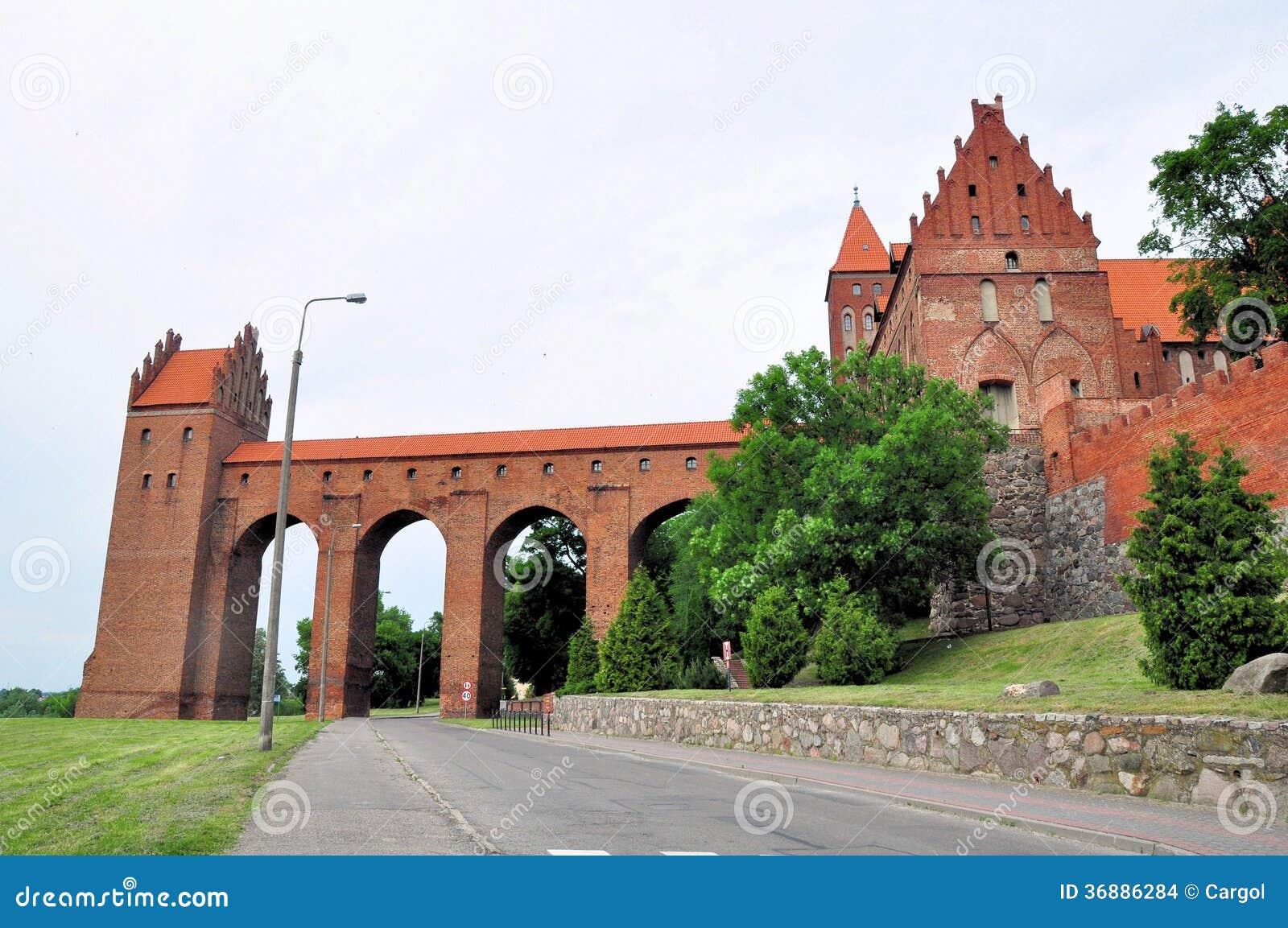 Download Kwidzyn - Il Castello Teutonico. Torre Sanitaria. Fotografia Stock - Immagine di castello, fortificazione: 36886284