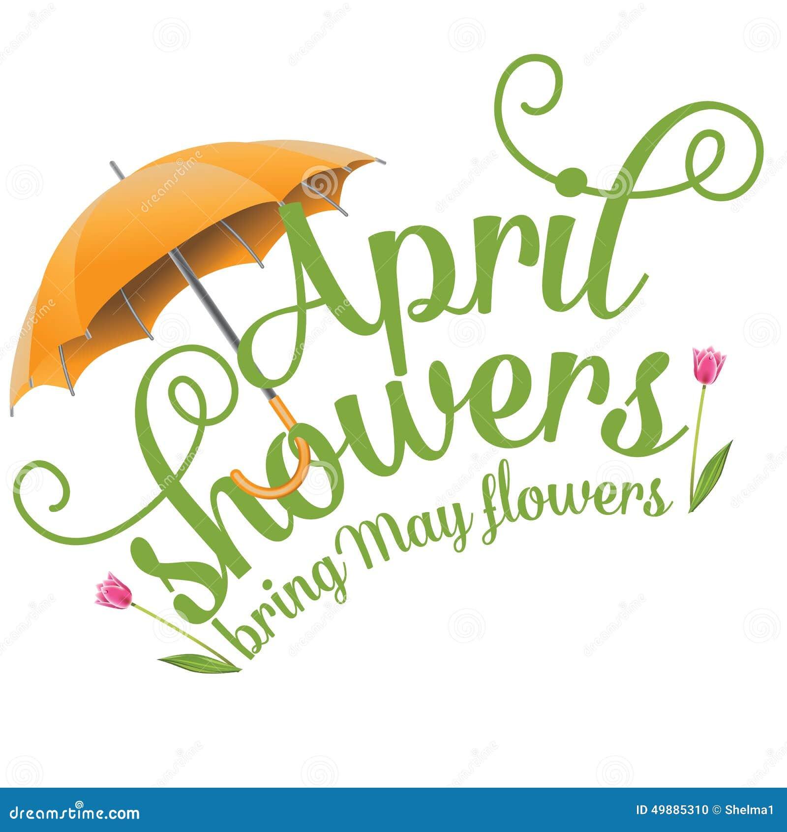 Kwiecień prysznic przynoszą Majów kwiatów projekt