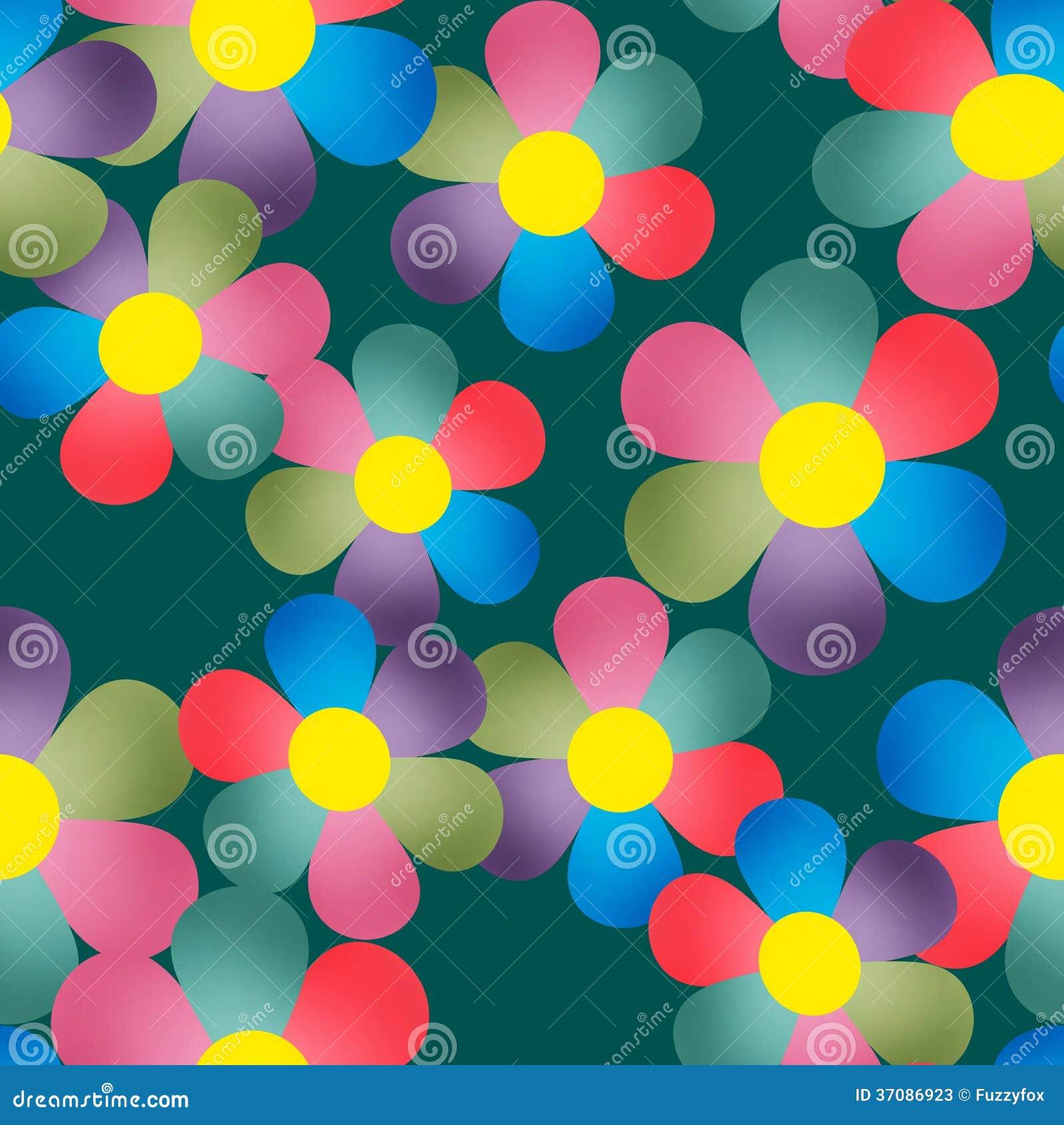 Download Kwiecisty Bezszwowy Wzór Z Kolorowym Kwiatu Tłem Ilustracji - Ilustracja złożonej z pojęcie, kwiat: 37086923