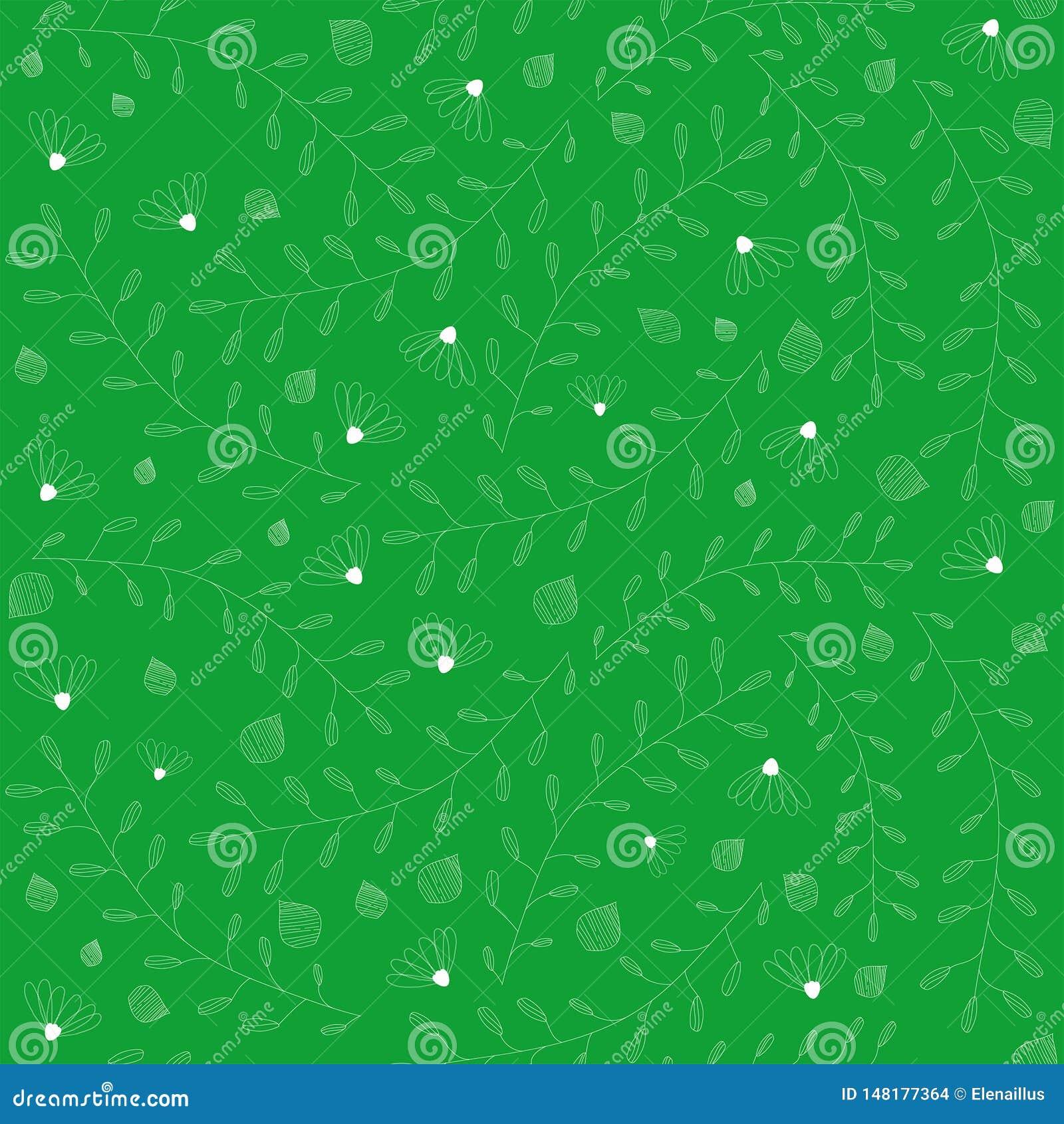 Kwiecisty deseniowy bezszwowy wektor Mała element tekstura