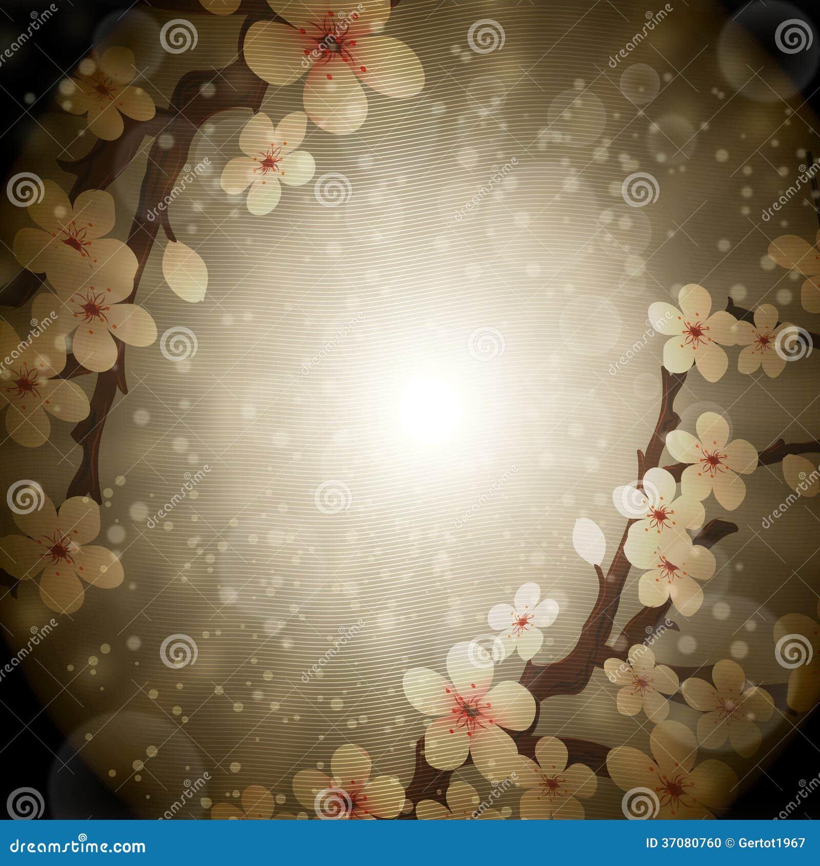 Download Kwitnie Sakura ilustracji. Ilustracja złożonej z 1, piękny - 37080760