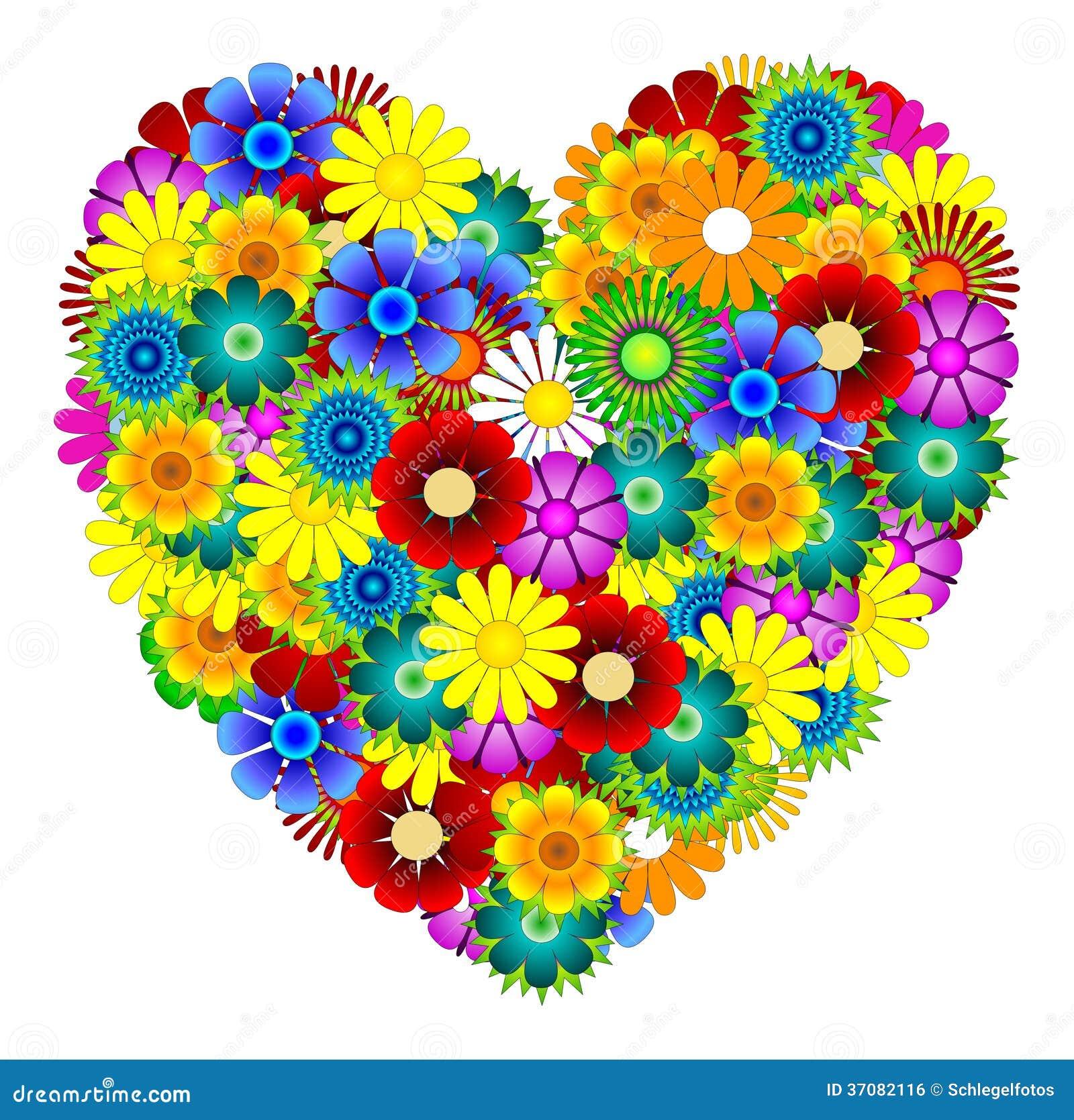 Download Kwitnie serce ilustracji. Ilustracja złożonej z wiosna - 37082116