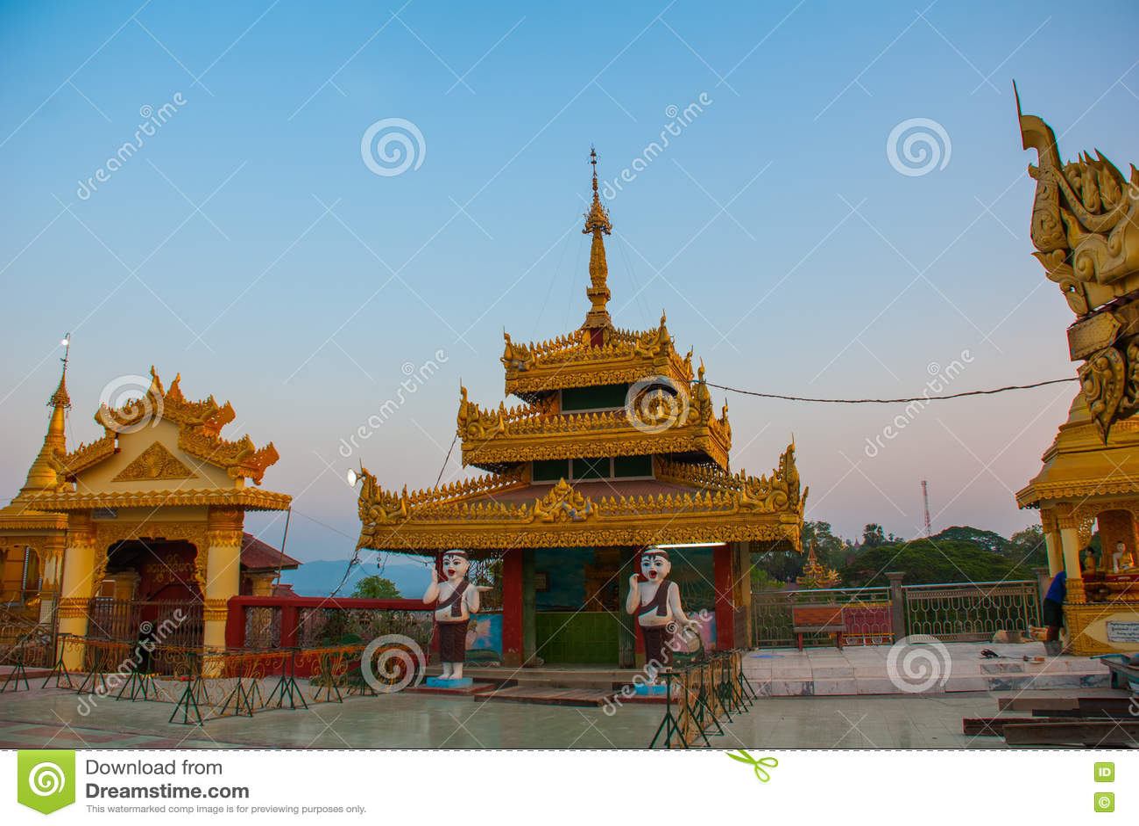 Kyaik Tan Lan 老Moulmein塔 毛淡棉,缅甸 缅甸