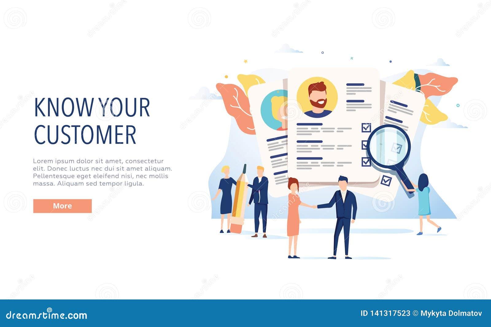 KYC, знают ваши шаблон вебсайта вектора клиента, интернет-страницу и приземляясь дизайн страницы для вебсайта и мобильного места