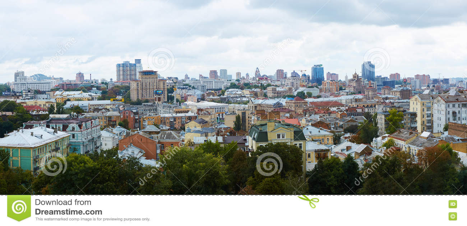 Kyiv Ukraina, Wrzesień, - 7, 2013: Architektura Kijowski centrum miasta