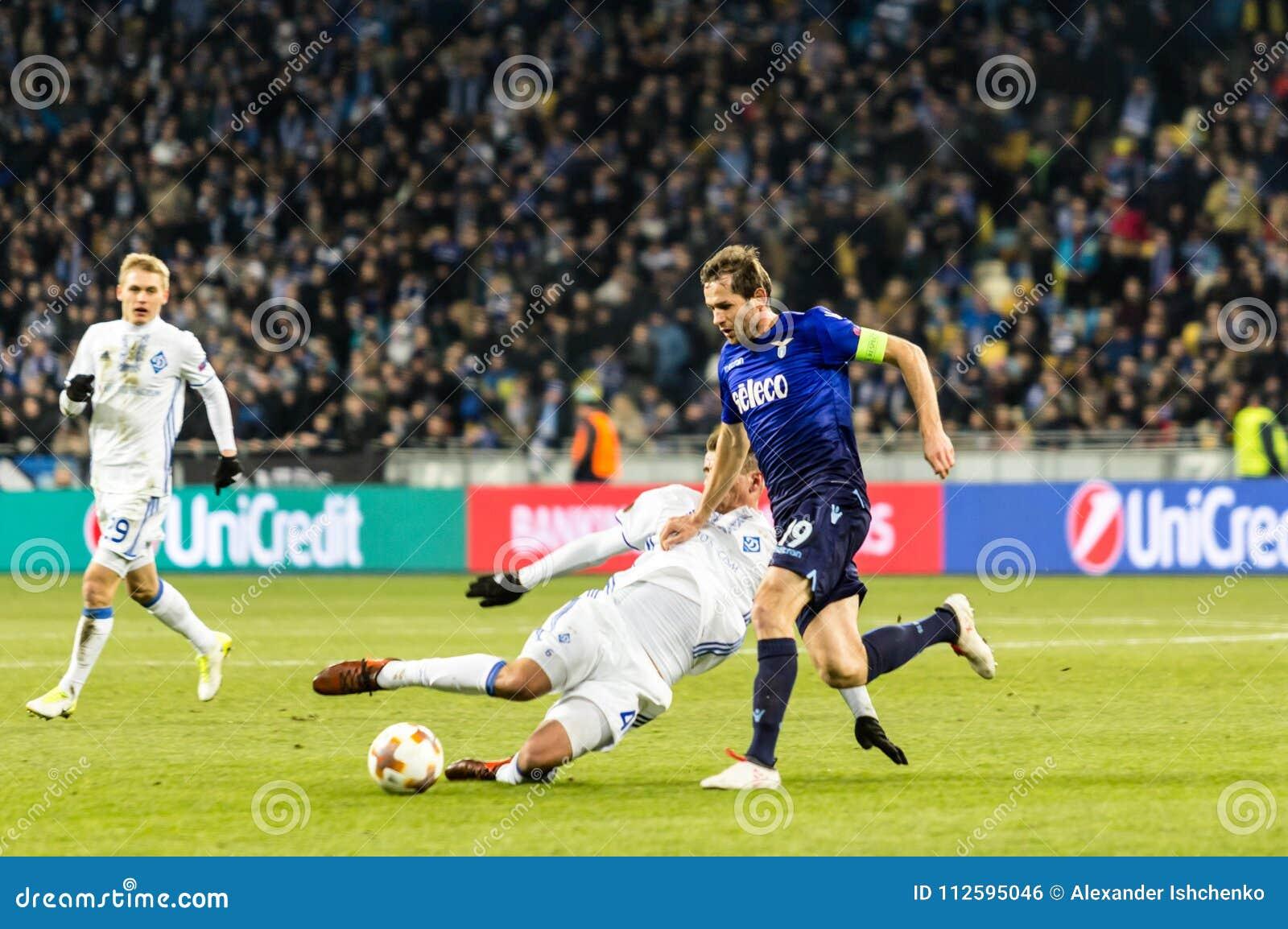 UEFA Europa League football match Dynamo Kyiv – Lazio, March 1