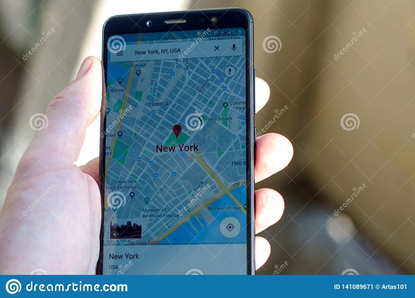 Kyiv, Ukraine- July 12, 2018: Google Maps Logo On Screen