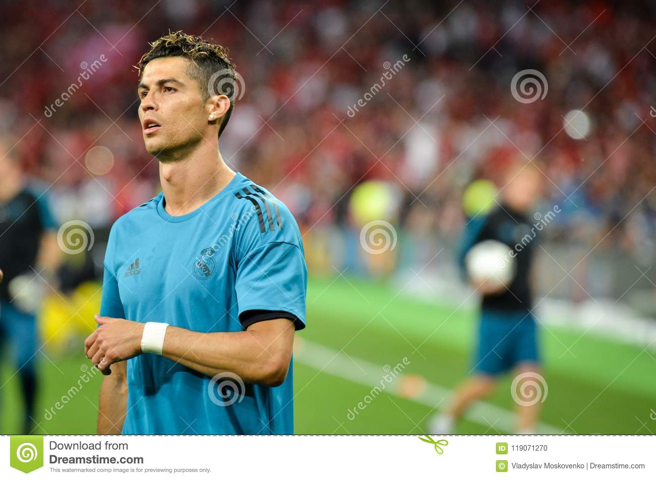 kyiv ukraine may 26 2018 cristiano ronaldo and training of