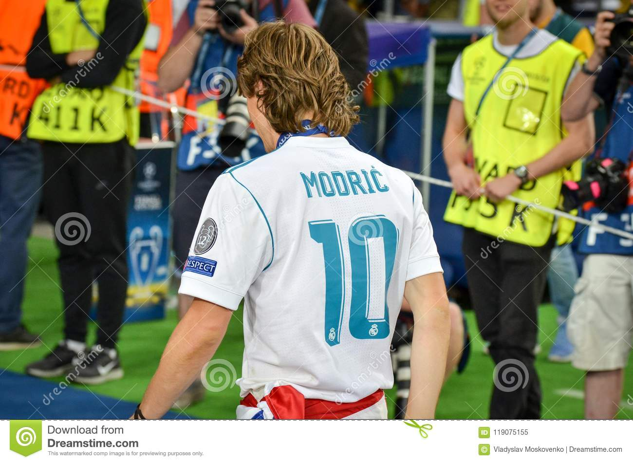 ce42da2e875 KYIV, UKRAINE - MAY 26, 2018: Luka Modric of Real Madrid celebrate the  victory in the final of the UEFA Champions League 2018 in Kiev match  between Real ...