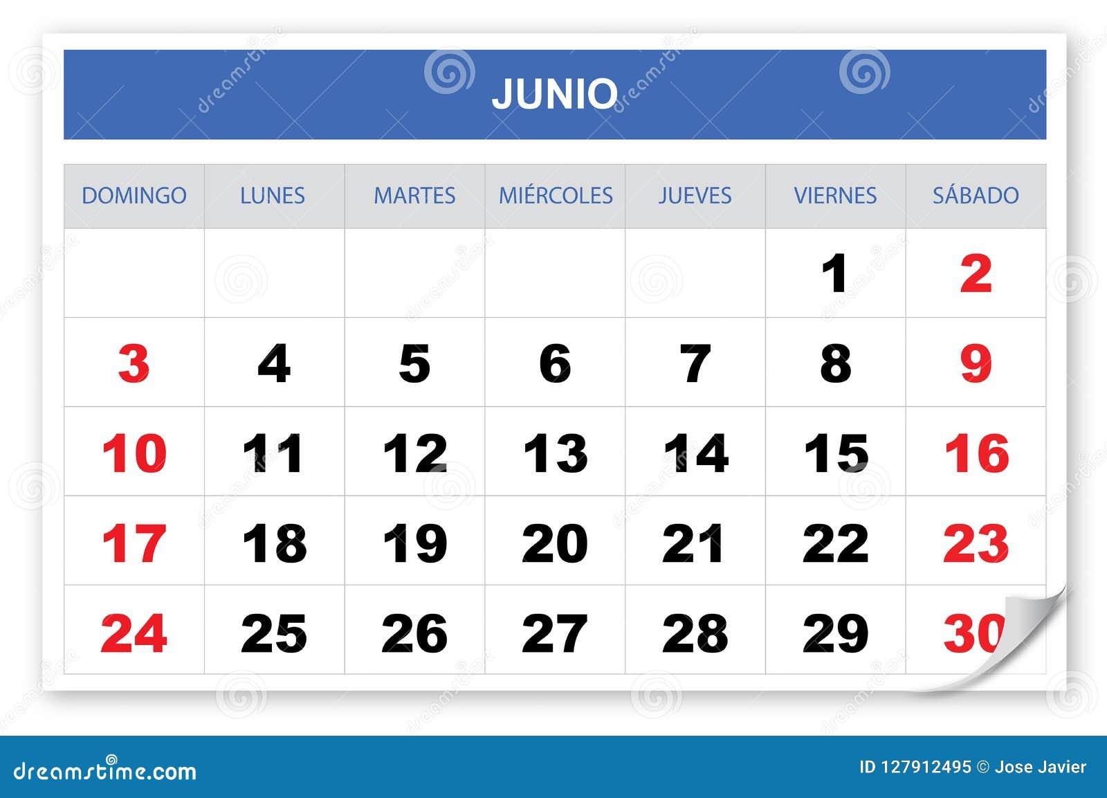Kyla och önska spanjor för kalender 2018, Juni