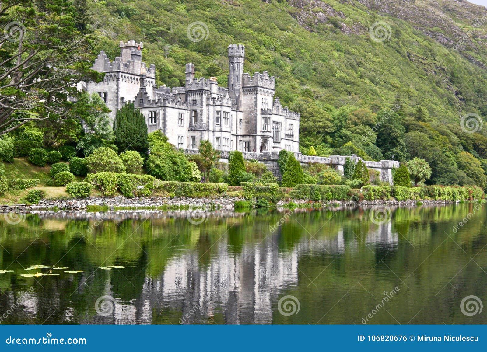 Kylemore abbotskloster, Connemara som är västra av Irland