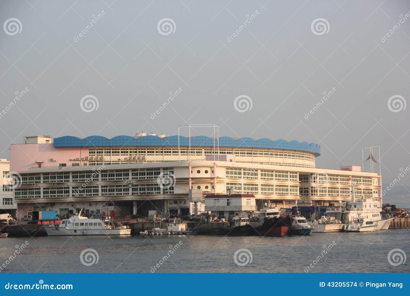 Download Kylförvaring I Port För Shenzhen Nanshan Shekoufiske Redaktionell Fotografering för Bildbyråer - Bild av export, bygger: 43205574