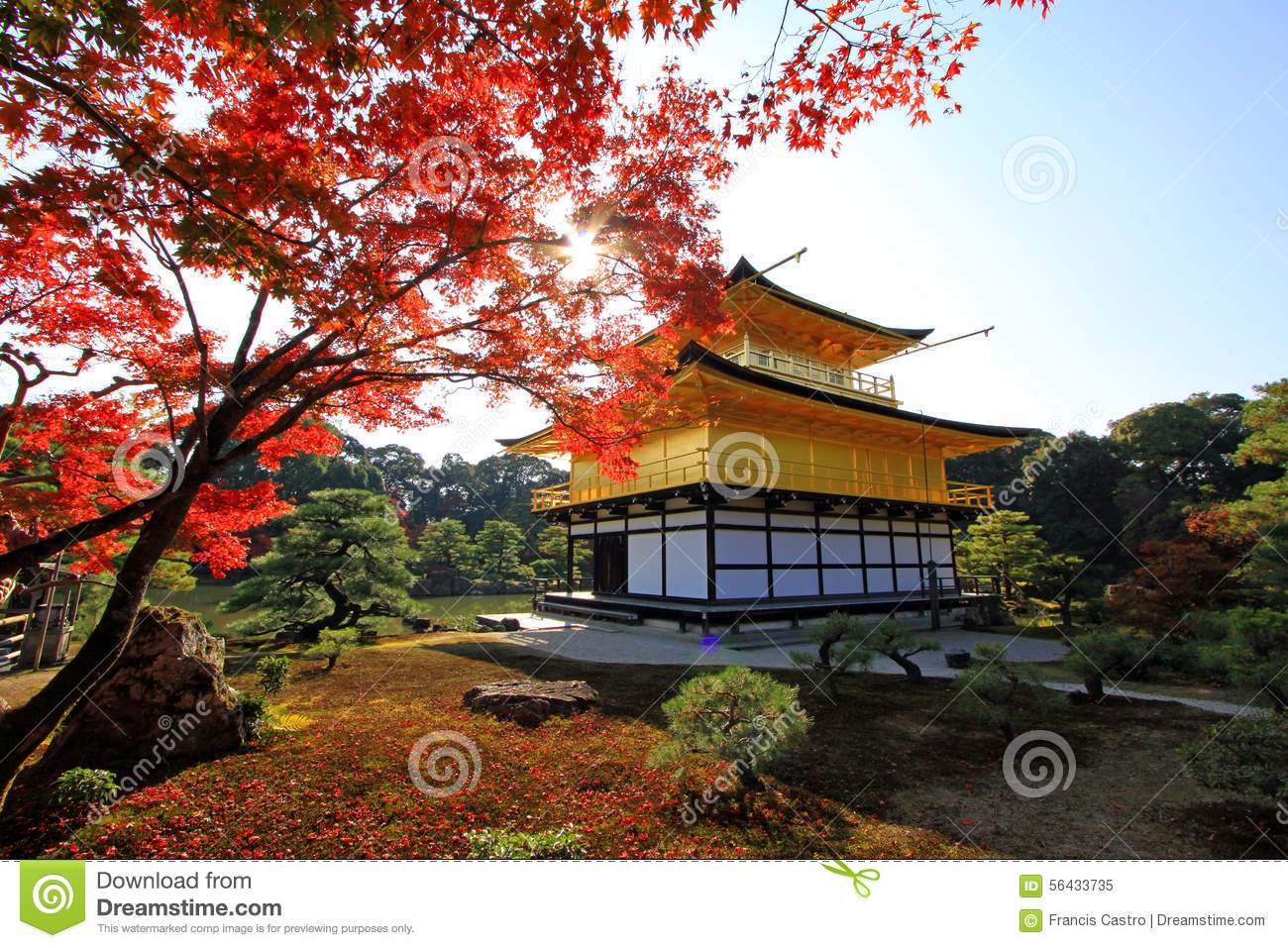 Kinkaku-ji. Temple of the Golden Pavilion, officially named Rokuon-ji ...