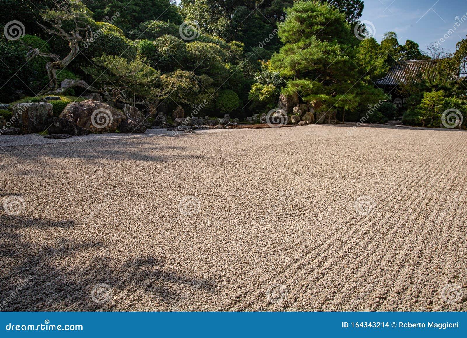 Kyoto Japan Konchi In Temple Stone Garden Stock Photo Image Of
