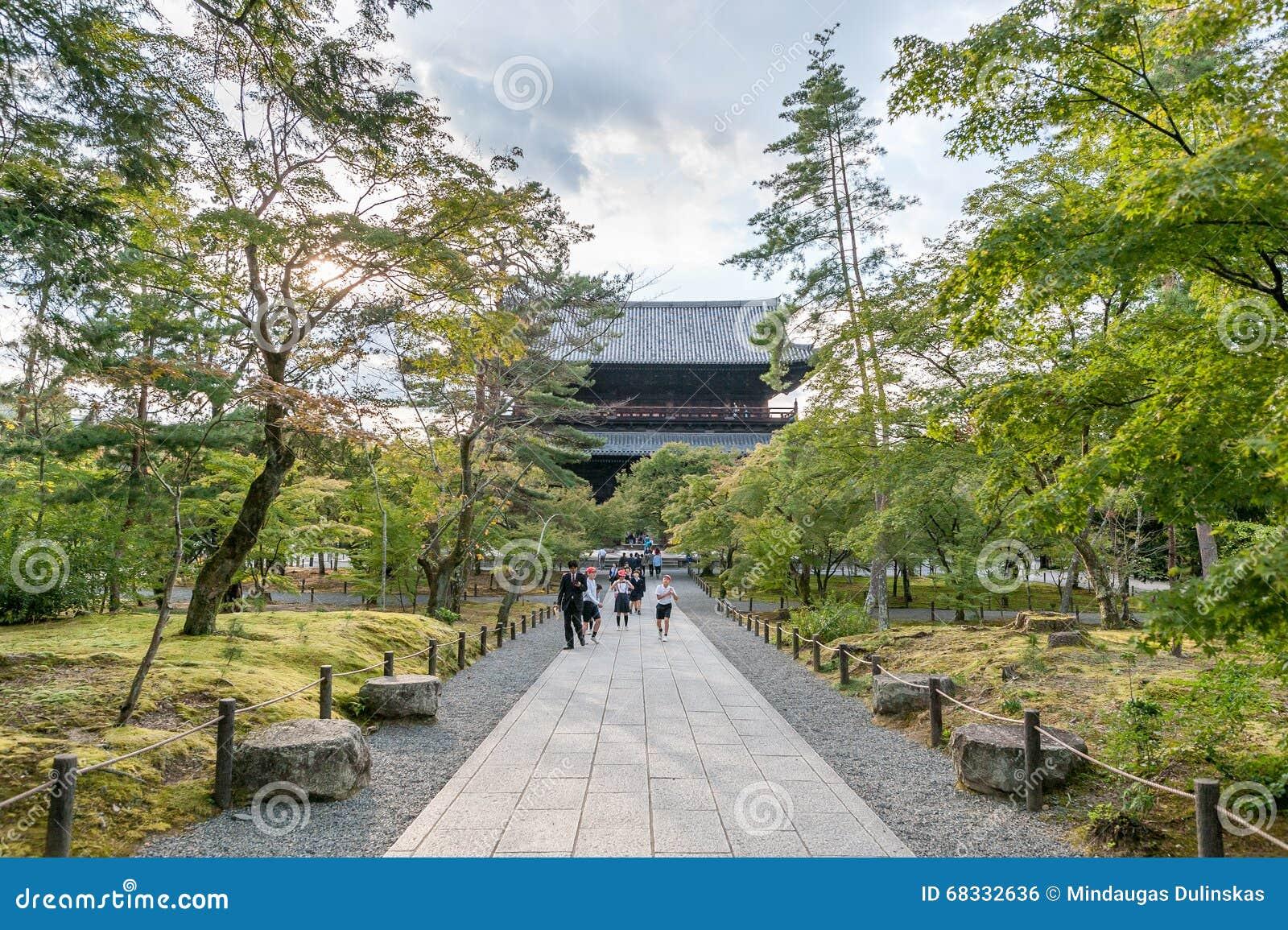 KYOTO, JAPAN - OCTOBER 08, 2015: Nanzen-ji, Zuiryusan Nanzen