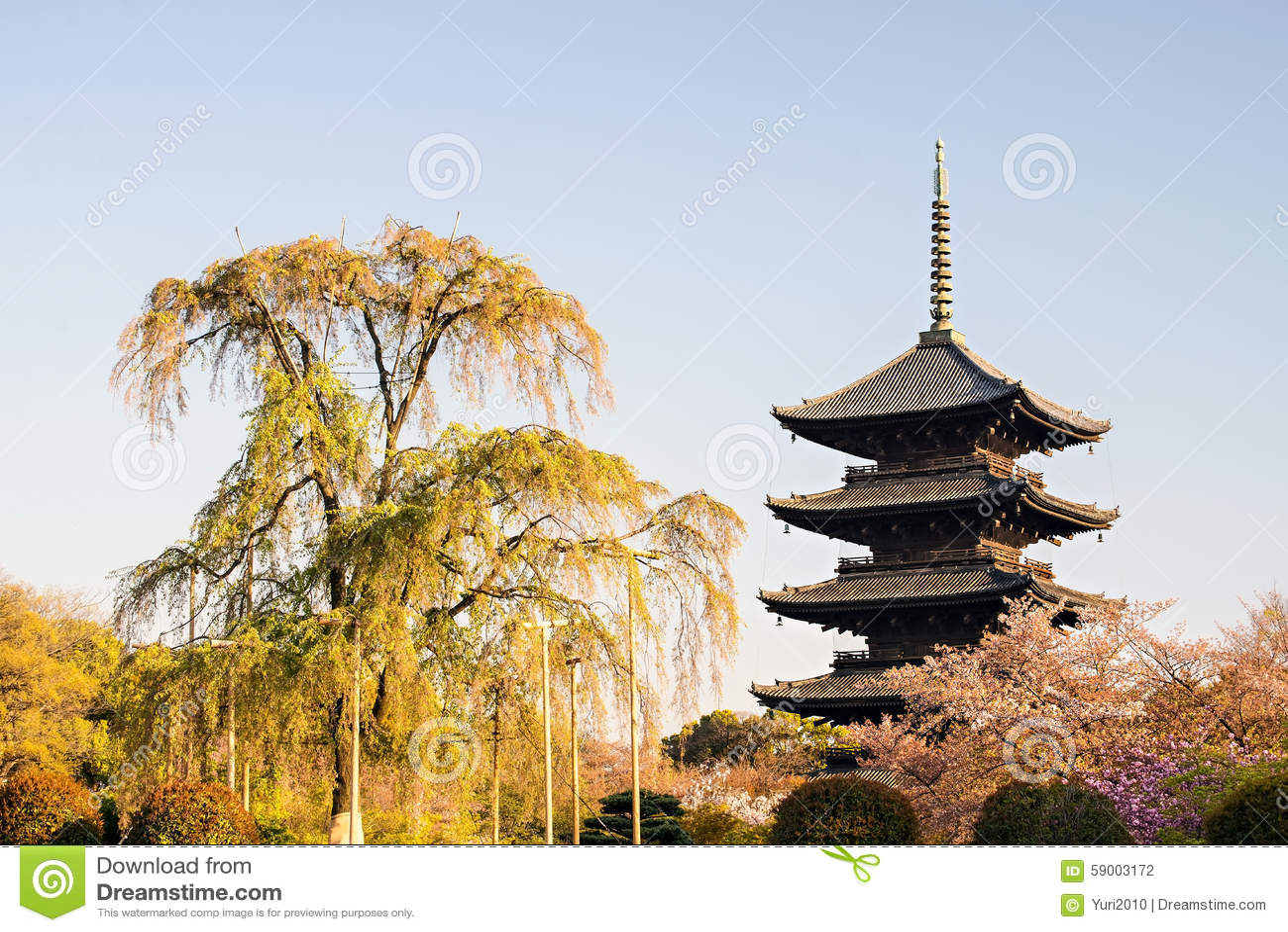 Kyoto, Japan at Toji temple