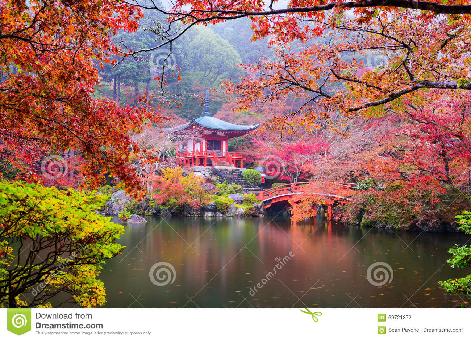 Kyoto-Tempel im Herbst
