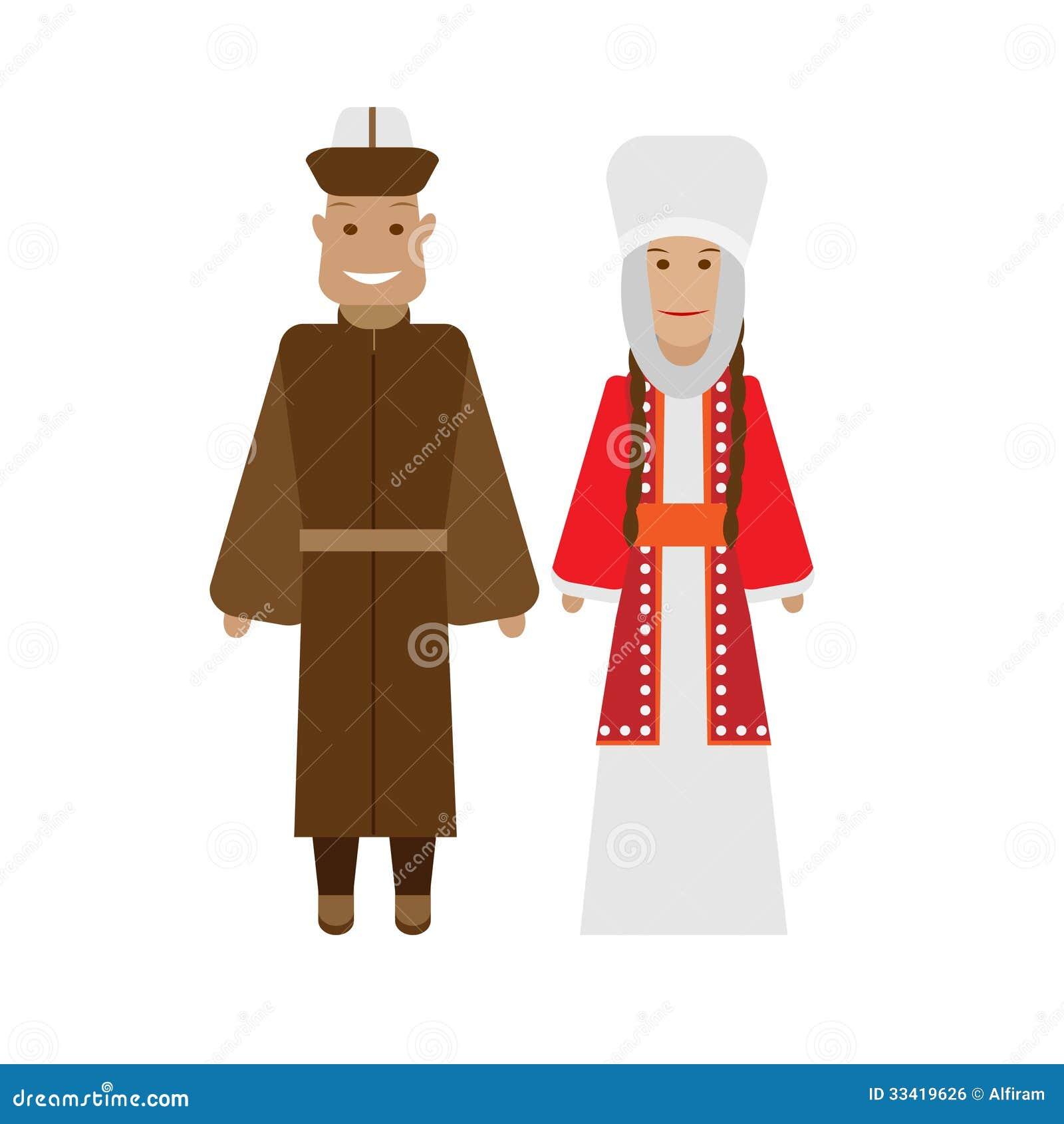 Kyrgyz National Dress Royalty Free Stock Image - Image: 33419626