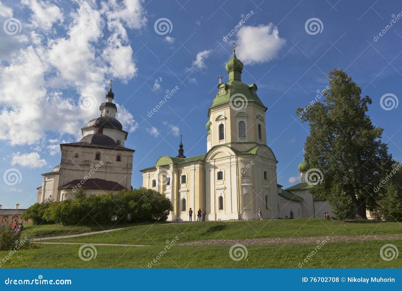 Kyrkaärkeängel Gabriel och Kirill Belozersky av den Kirillo-Belozersky kloster, Vologda region, Ryssland