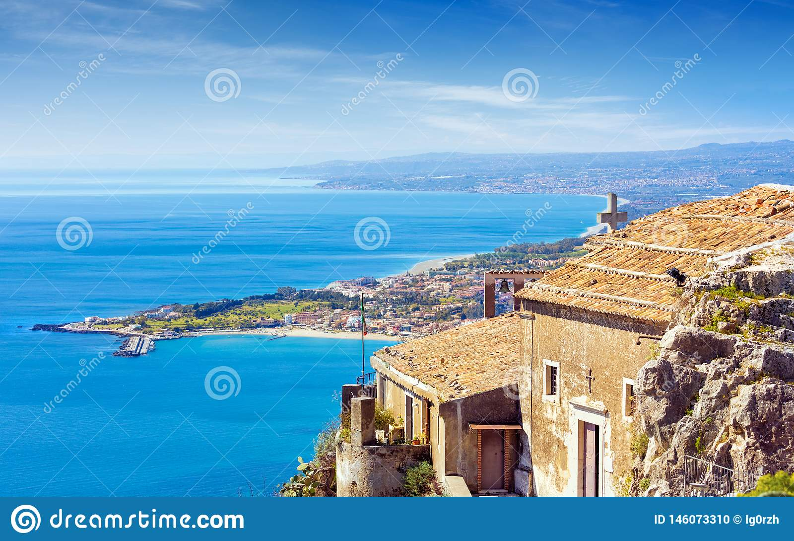 Kyrka av madonnadellaen Rocca i Taormina, Sicilien, Italien