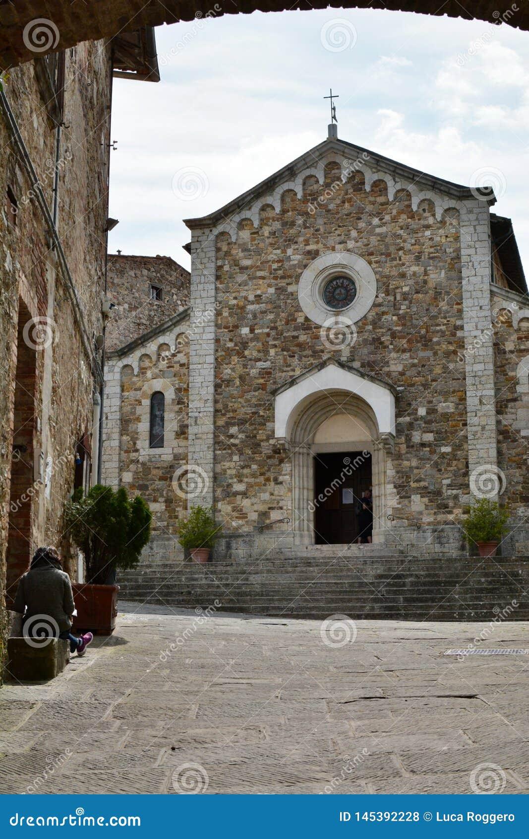 Kyrka av San Salvatore Castellina i Chianti Toscana italy