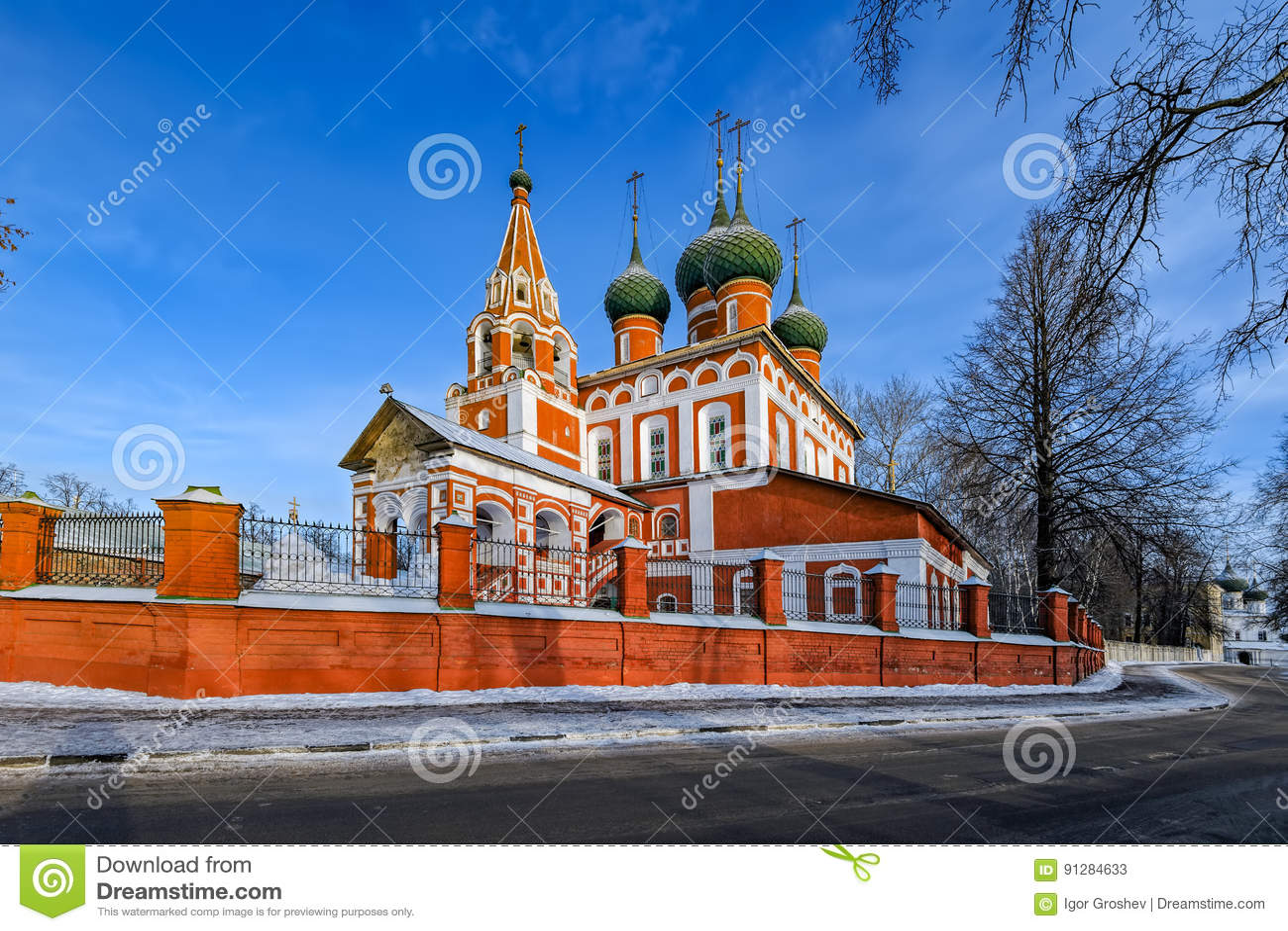 Kyrka av St Michael ärkeängeln i Yaroslavl, Ryssland